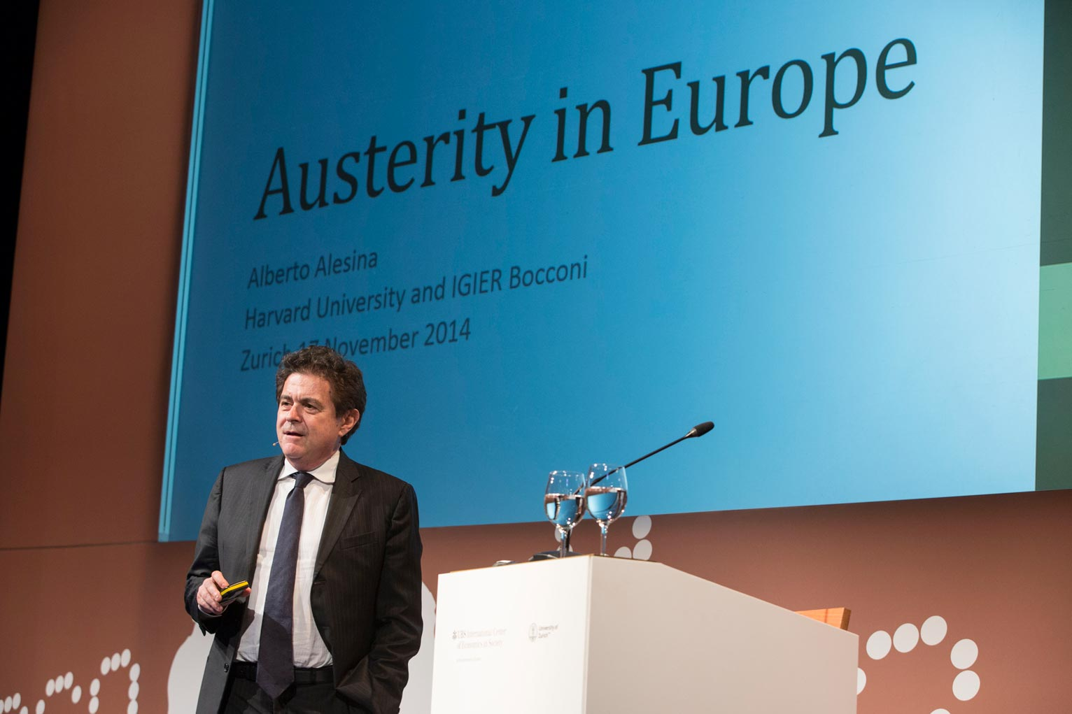 Alberto Alesina criticized Europe for not applying anti-cyclical fiscal policies