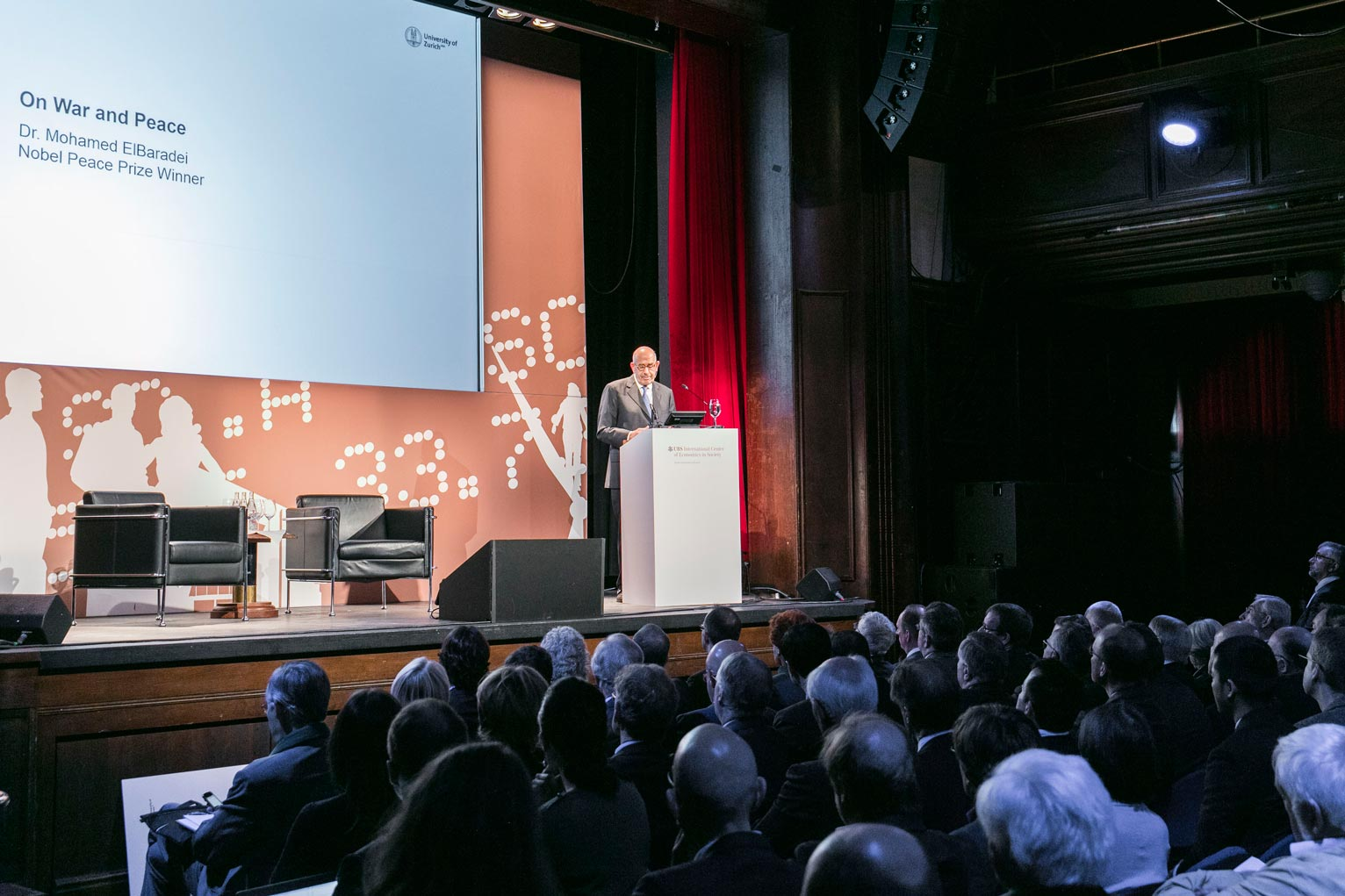 Mohamed ElBaradei during his keynote lecture